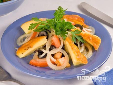 Грузинский салат с сулугуни