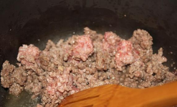 Суп с говяжьим фаршем - фото шаг 1