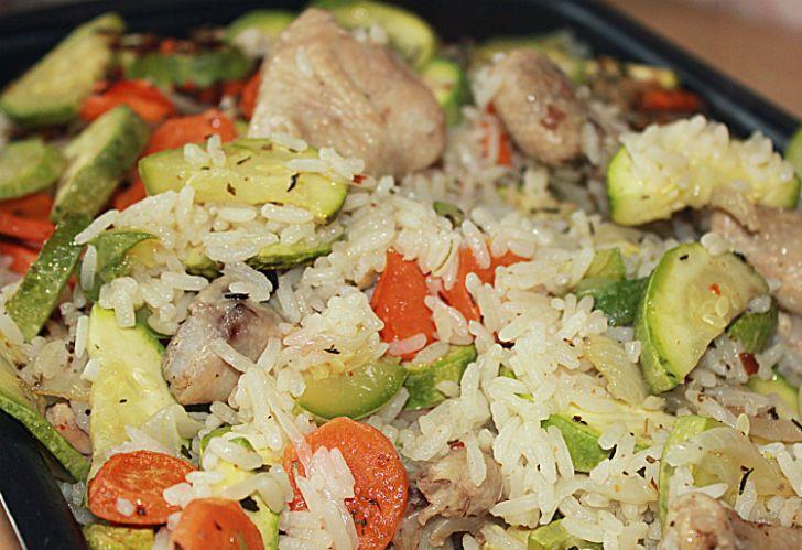 Рис с кабачками и курицей - фото шаг 6