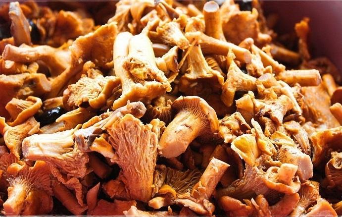 Рецепт Лисички с картошкой в казане