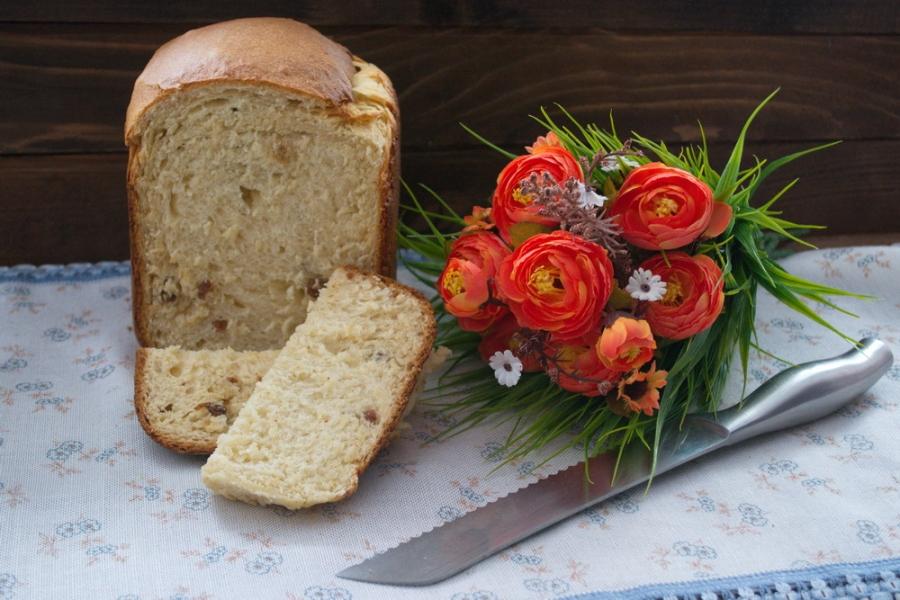 Кулич творожный в хлебопечке - фото шаг 6