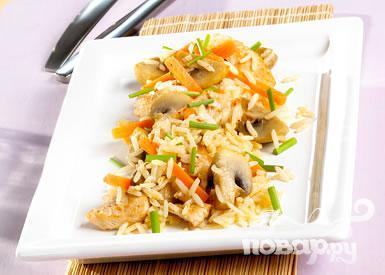 Рецепт Индейка с грибами и морковью