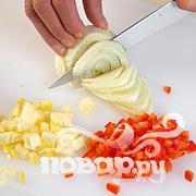 Рис с овощами, укропом и креветками - фото шаг 2