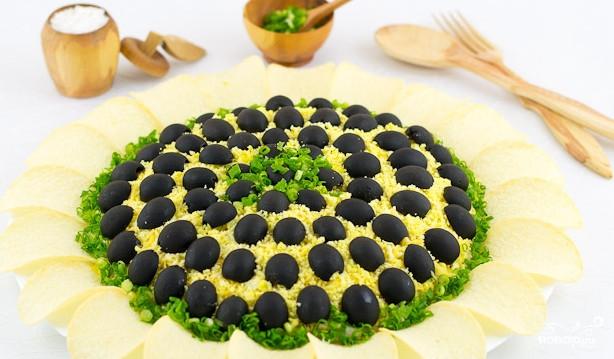 салат подсолнух очень вкусный рецепт