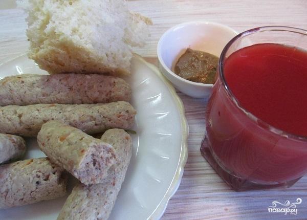 Колбаски из куриного фарша
