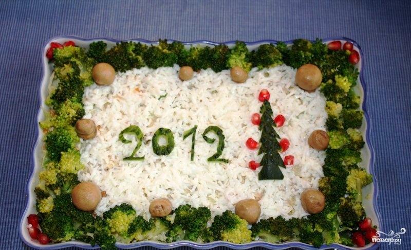 Рецепты салатов новый 2012 год фото