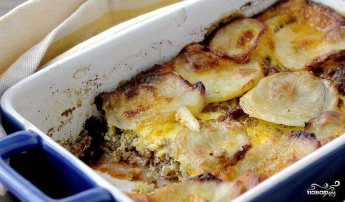 Рецепт Гратен из картофеля с мясом