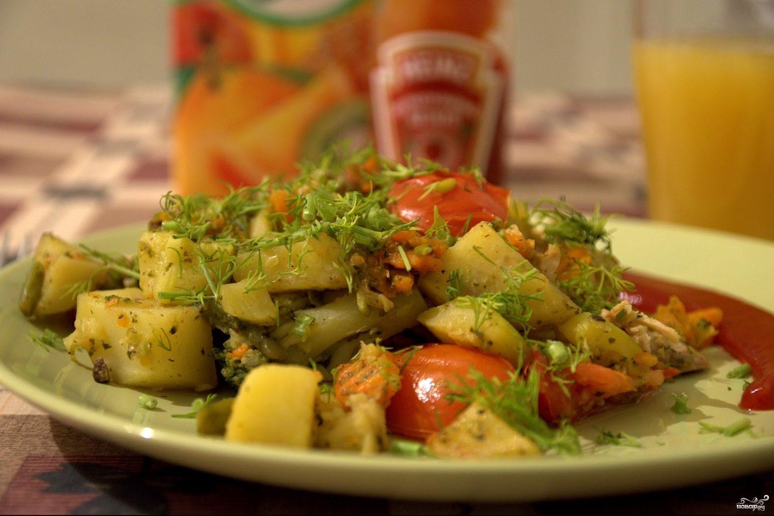 Рагу картофель кабачки капуста морковь