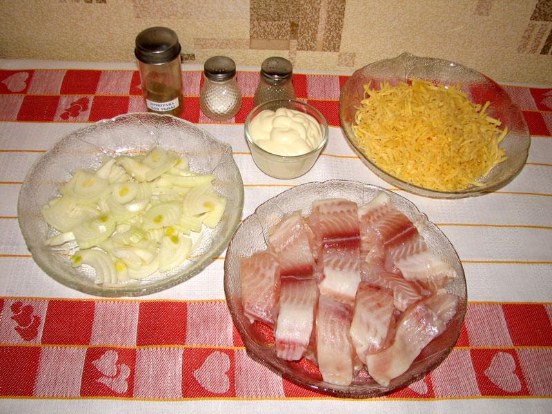 Рецепт Рыба, запеченная с сыром
