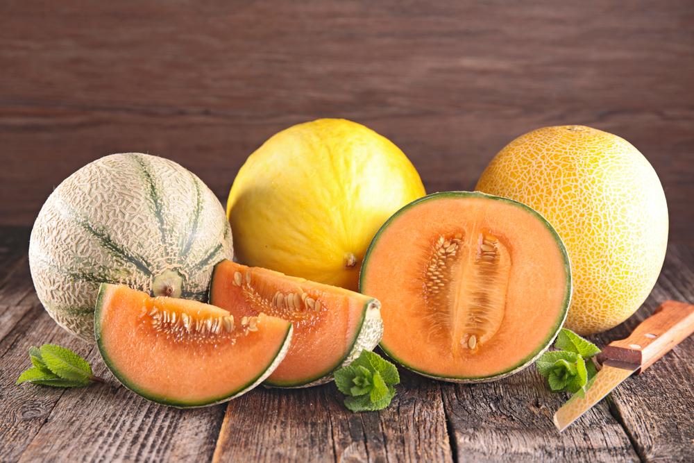 Желтые и оранжевые дыни