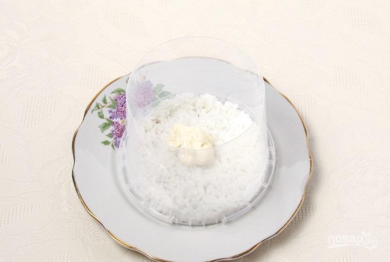 Мимоза с рисом и сыром