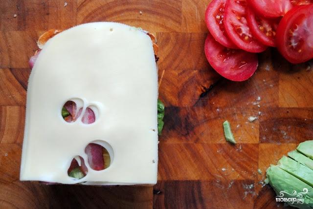 Клубный сэндвич с курицей - фото шаг 9