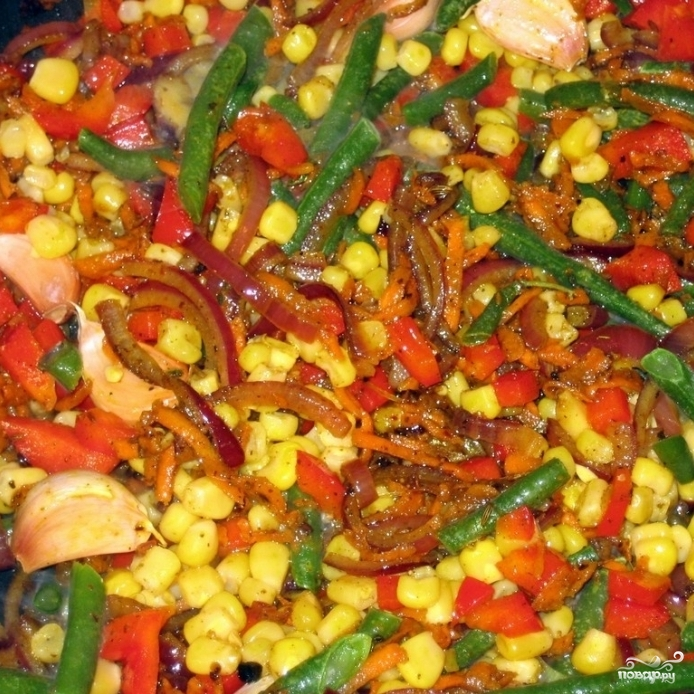 Коричневый рис с овощами - фото шаг 5
