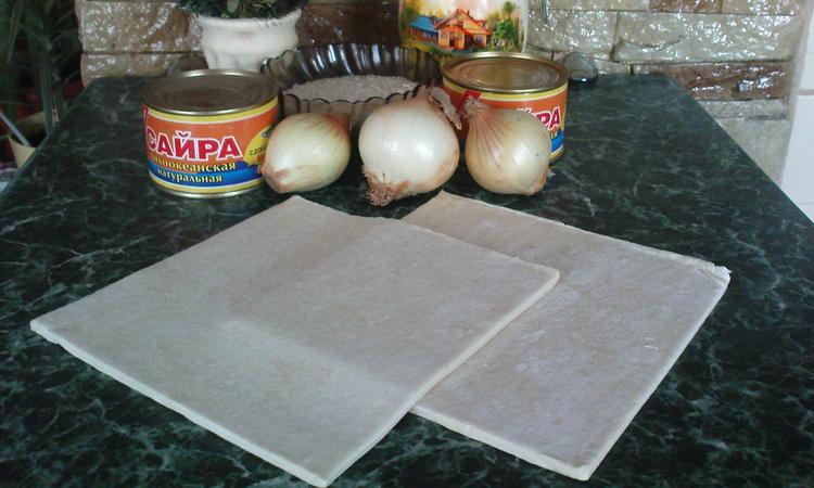 Рецепт Рыбный пирог из сайры