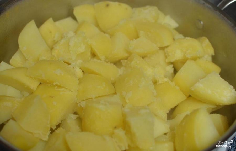 Картошка с грибами в сливках - фото шаг 2