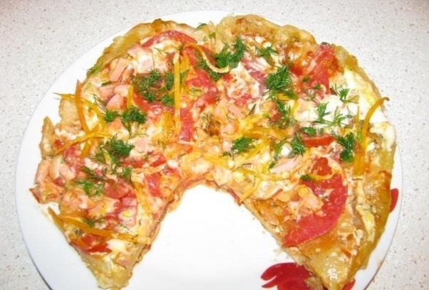 пошаговый рецепт бездрожжевой пиццы