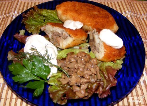 Зразы с мясом и грибами