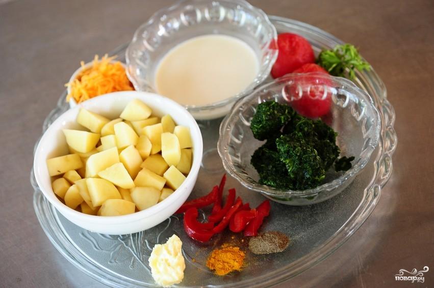 Рецепт Суп из шпината замороженного