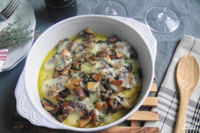 Рецепт Полента с грибами
