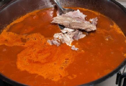 Суп с фасолью и мясом - фото шаг 10