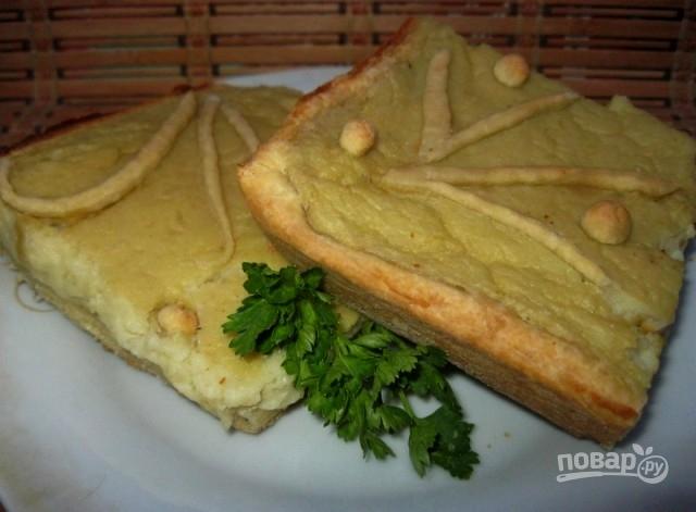 Пирог с картофельным пюре