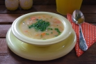Суп затирка с мясом