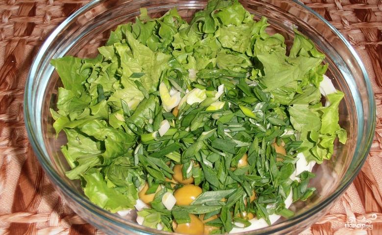 Новогодний салат из кальмаров - фото шаг 3