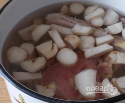 Грибной суп с мясом - фото шаг 3