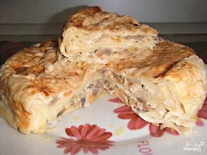 Слоенный пирог из лаваша - фото шаг 13