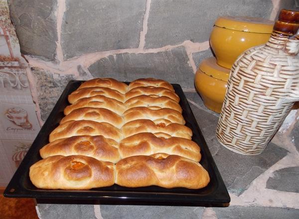 Пирожки с курагой в духовке - фото шаг 12