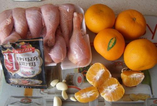 Рецепт Курица с мандаринами