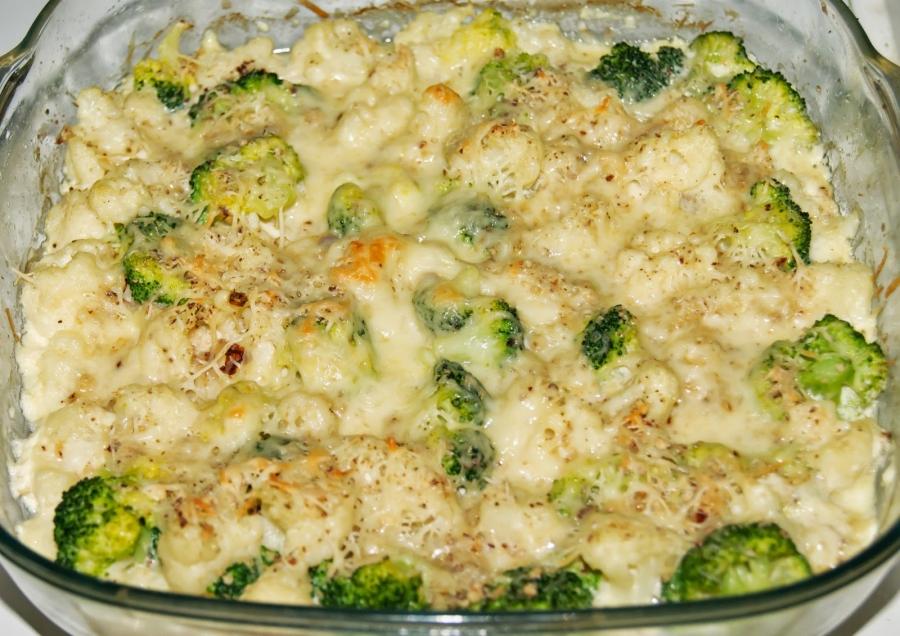 Цветная капуста и брокколи, запеченные в духовке - фото шаг 11