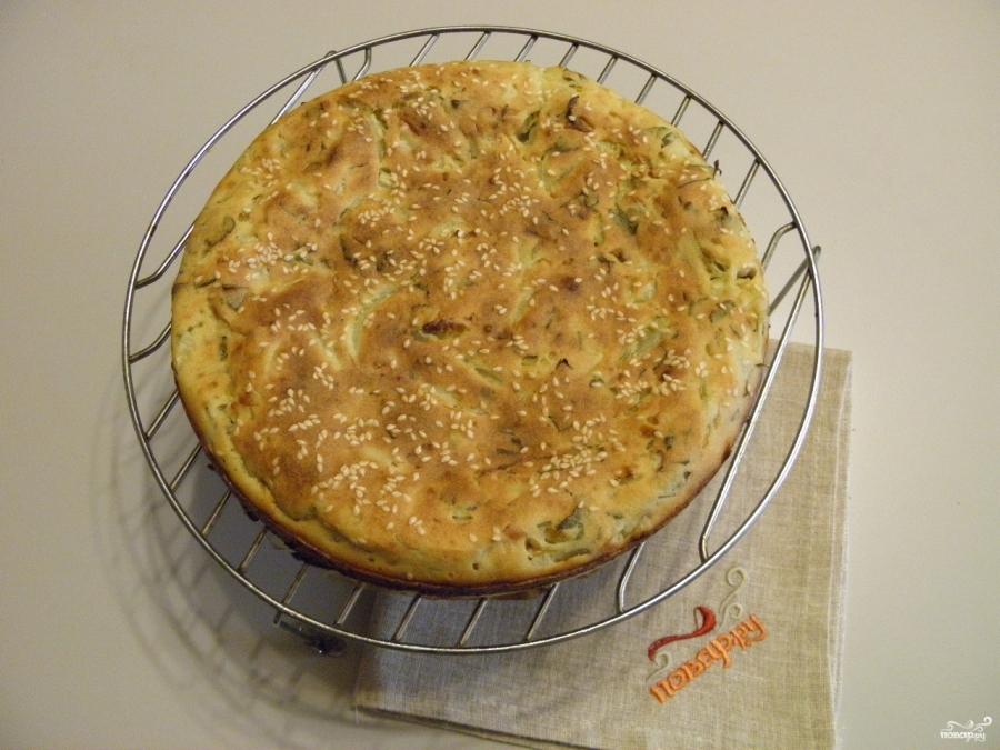 Ленивый пирог с капустой - фото шаг 9
