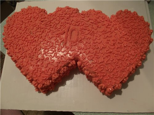 "Торт ""Два сердца"" - фото шаг 7"