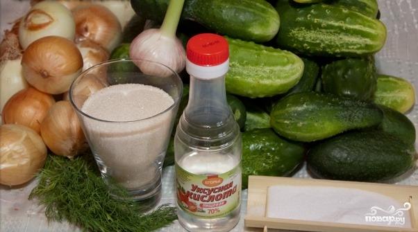 Рецепт Салат из огурцов на зиму