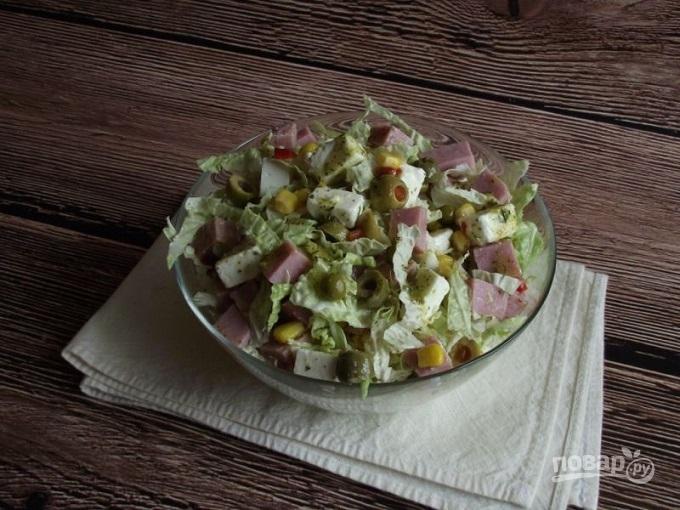 Салат из фунчозы с мясом пошаговый рецепт с фото