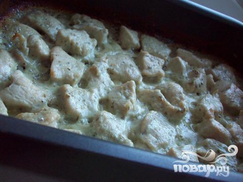 Куриное филе в соусе из сливок и сыра дор-блю - фото шаг 5