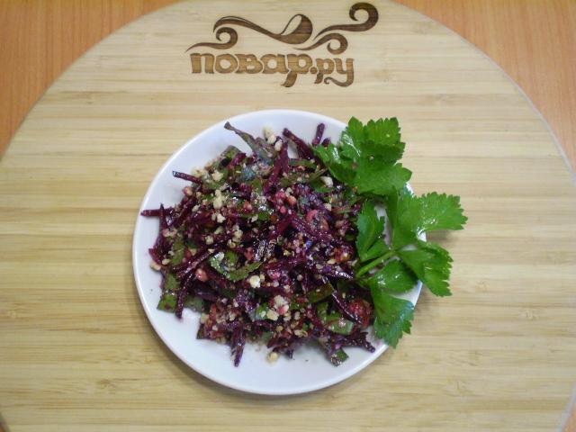 Сыроедческий салат из свеклы - фото шаг 8
