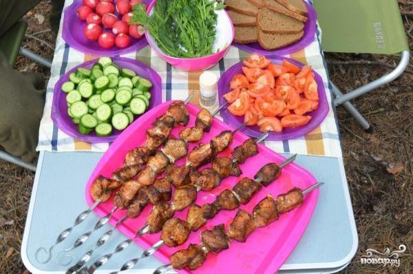Шашлык из корейки свинины - фото шаг 6