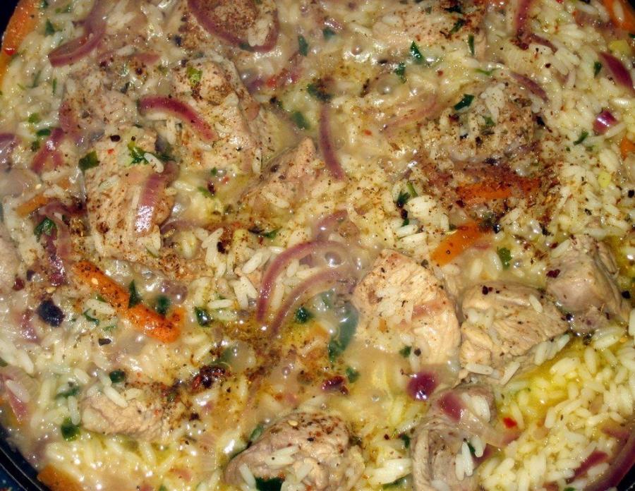 Свинина с рисом и овощами - фото шаг 5
