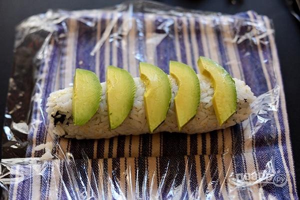 Суши вегетарианские - фото шаг 7