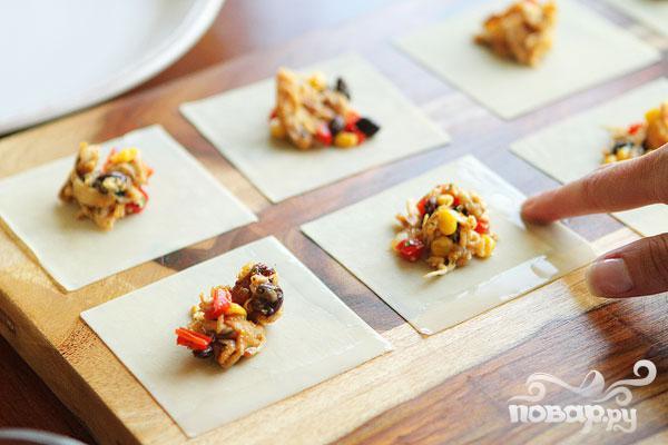 Конвертики с овощной начинкой - фото шаг 5