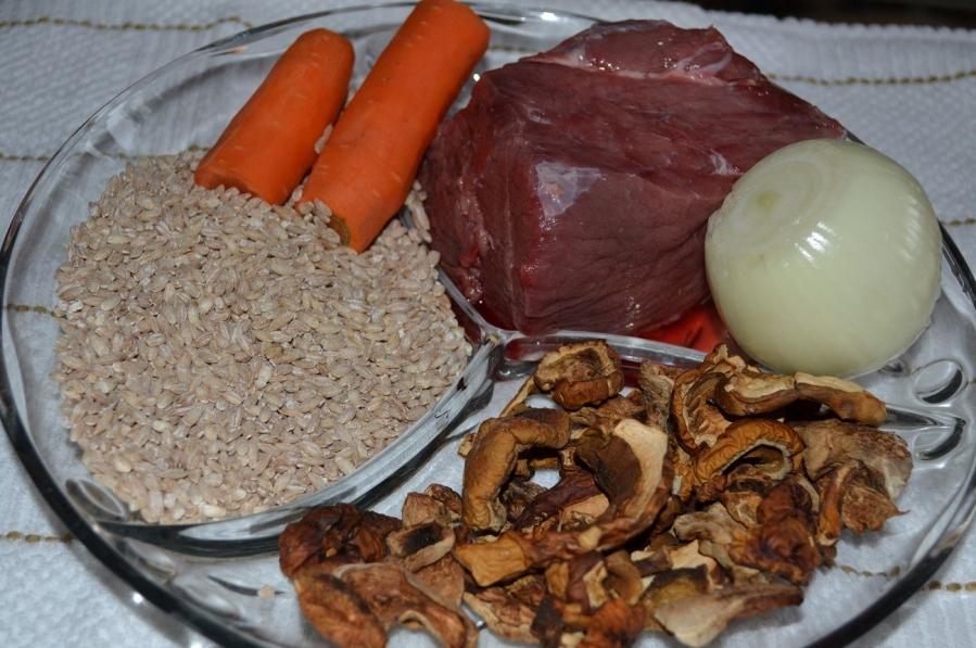 Рецепт Каша перловая с говядиной
