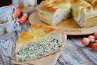 Пирог с творогом и шпинатом