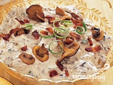 Рецепт Грибной соус с беконом