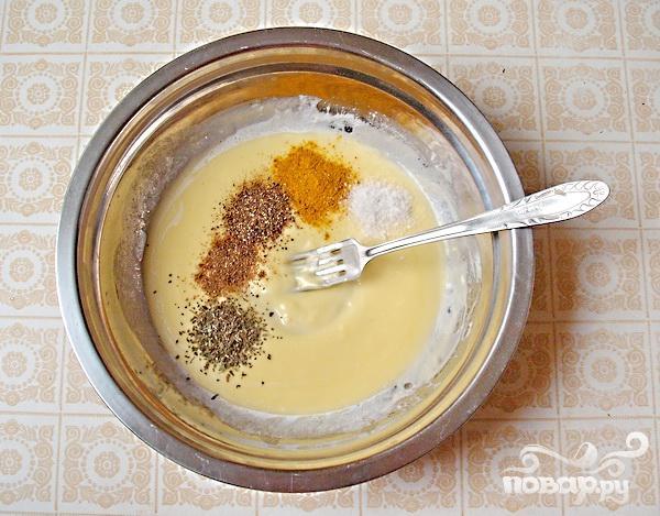 Закусочный кекс с ветчиной - фото шаг 1