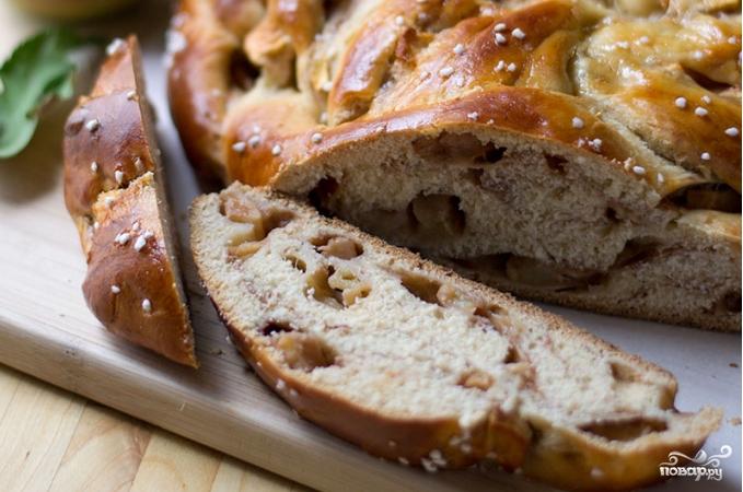 Яблочный пирог с медом - фото шаг 3