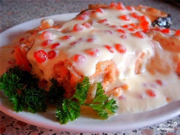 Семга под сливочно-икорным соусом - фото шаг 5