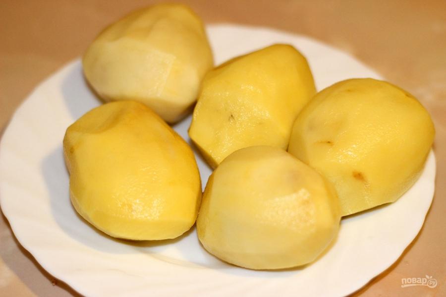 Печеный картофель в фольге в духовке - фото шаг 1