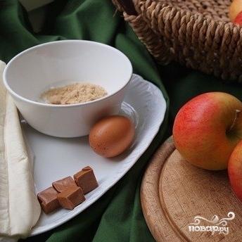 Рецепт Запеченное яблоко в слоеном тесте